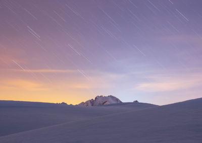 Falling stars above the marmolada / Passo Giau (IT) / Lukas Schäfer