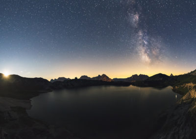 Moonrise with milkyway / Laghi D'olbe (IT) / Lukas Schäfer