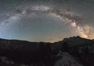 sennes, galaxy, panorama, milkyway