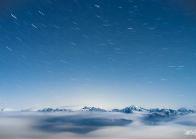 fog - stars - startrail - nightsky - naturephoto - mountains - alps - dolomites