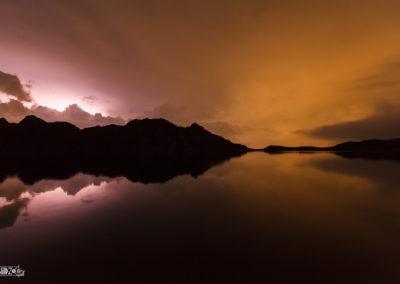 Lightning - Thunder - Thunderstorm - Naturephotography - Alps - Reflection - Lake - Lakeside
