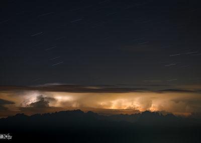 Lightning - Thunder - Thunderstorm - Naturephotography - Dolomites - Startrail - Alps