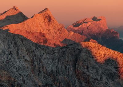 dolomiten - dolomites - berge - mountains - landscape - nature - sunrise - helltaler schlechten - South tyrol