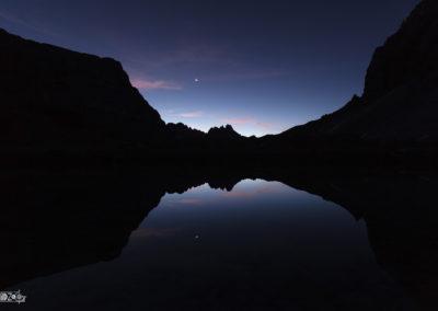 Reflection - Moon - Dolomites - Night - Nightsky - Naturephotography