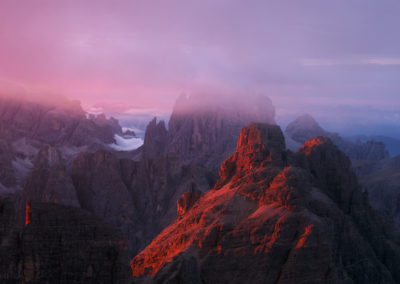bloody light - zwölfer - red - first sunlight - berge - dolomiten - landscape - mountains