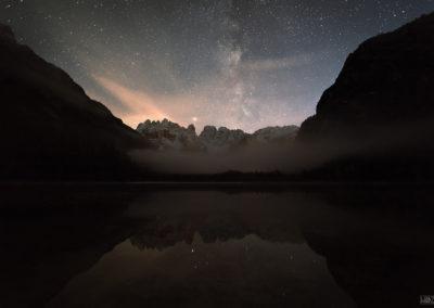 Lago di Landro with the Milkyway / Höhlensteintal (IT) / Lukas Schäfer
