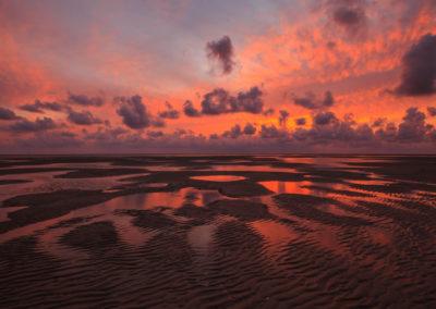 Sunset at the wadden sea / Blåvand (DEN) / Daniel Tschurtschenthaler
