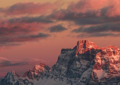 dolomiten - dolomites - berge - mountains - landscape - nature - sunrise - passo pordoi