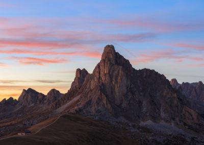 Passo giao at sunset / Passo giau (ITA) / Daniel Tschurtschenthaler