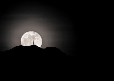nightsky - moon - alps - south tyrol