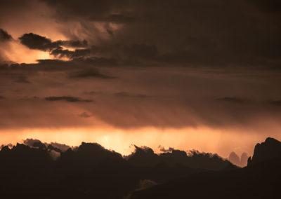 lightening - blitze - gewitter - mountains - dolomites