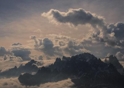 storm - incoming storm - night - nightsky - dolomites - mystic - poweful
